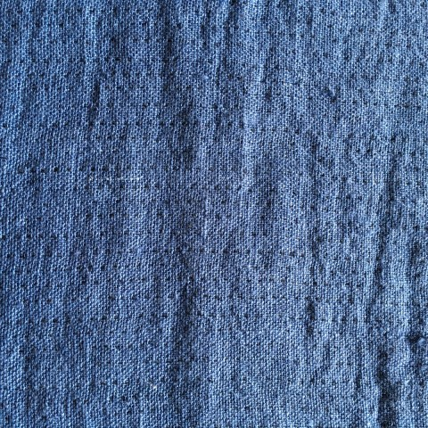 Anichini Double Faced Denim Pick Stitch Linen Fabric