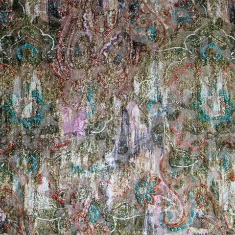 Anichini Lagoon Printed Fortuny Velvet Coverlets