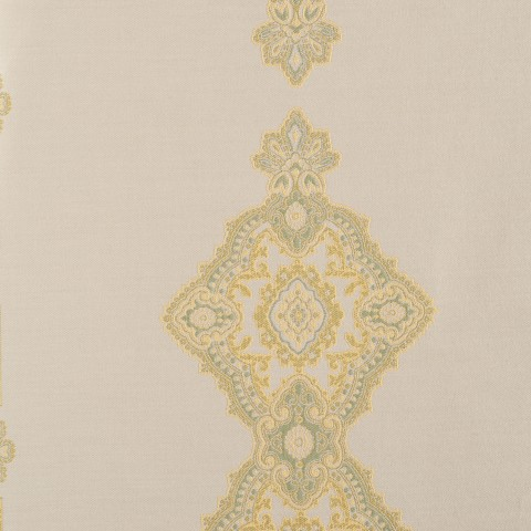 Anichini Persia Jacquard Medallion Fabric By The Yard