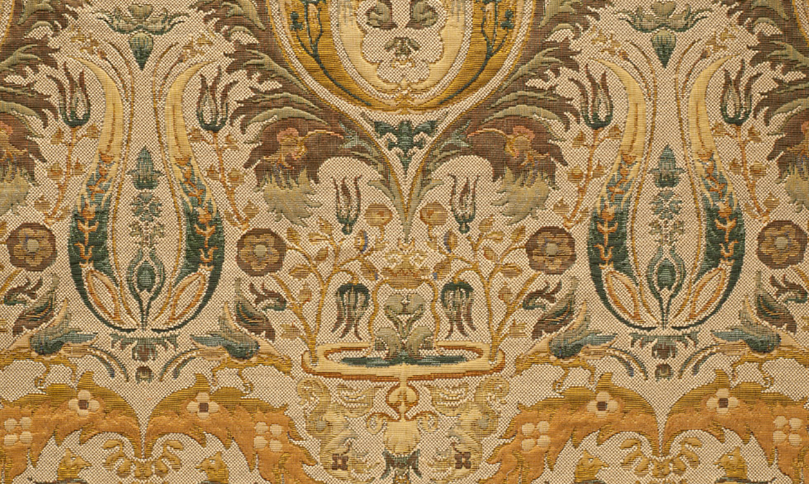 Anichini Thread-Dyed Tapestry Fabric By-The-Yard: Luxury Designer Thread-Dyed Tapestry Fabrics